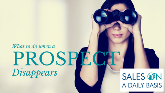 What To Do When A Prospect Vanishes
