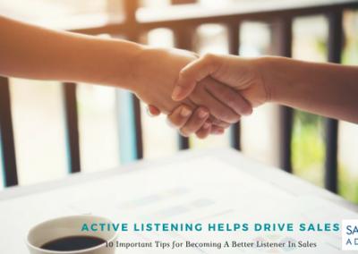Active Listening Helps Drive Sales