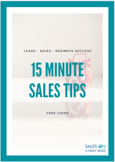 15 minutes sales tips front cover